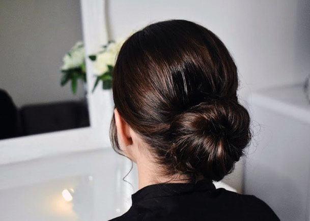 Classic Chignon Bun Hairstyle Women