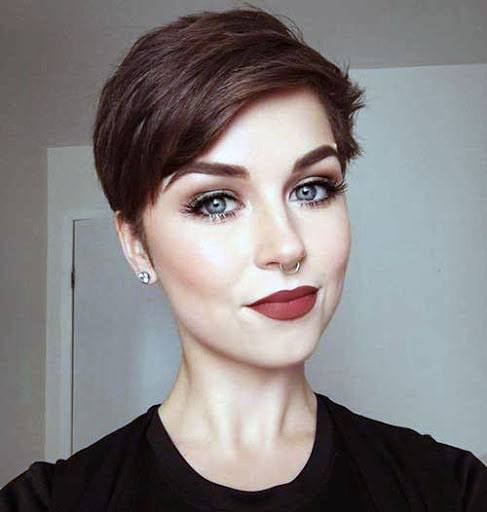 Classic Fine Side Swept Pixie Hairstyle For Women