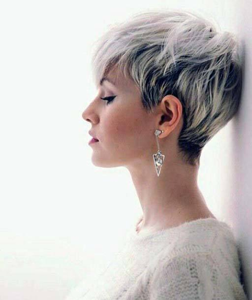 Classic V Cut Layered Pixie Hairstyle Women