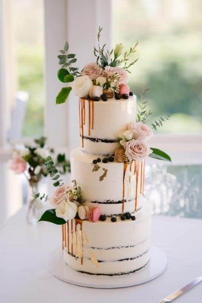 Classy Chocolate Wedding Cake