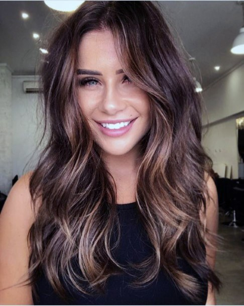 Classy Long Layered Hairstyle Women