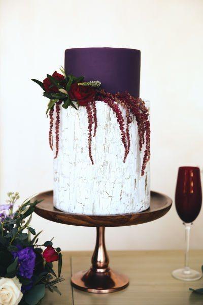 Classy Purple Wedding Cake