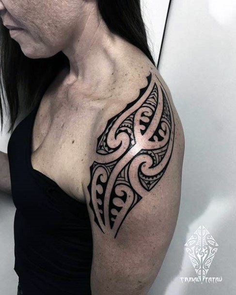 Classy Tribal Tattoo Womens Arms