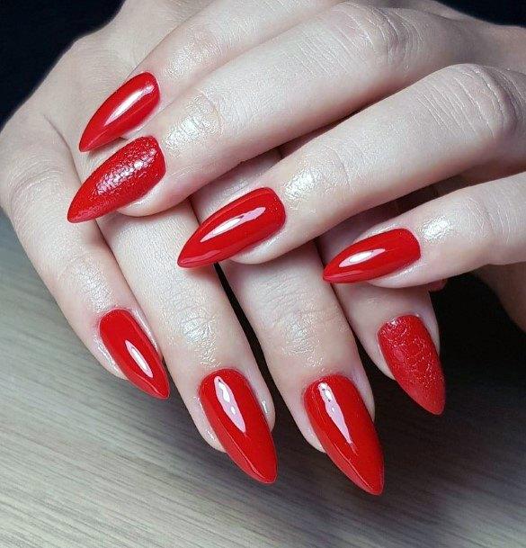 Claw Nails Red Shellac For Women