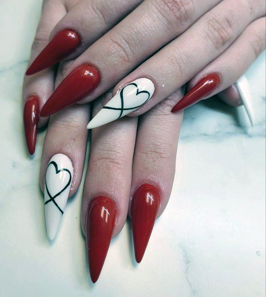 Clawed Bright Red Nails For Women