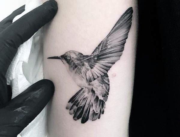 Clean Hummingbird Tattoo Women