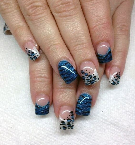 Clear Nails With Leopard Art Women