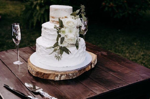 Clear White Country Wedding Cake Lush