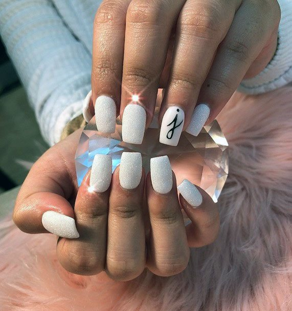 Clear White Sugar Nails For Women