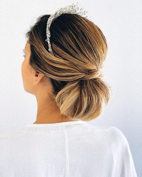Clipped Pony Style Chignon Hair Women