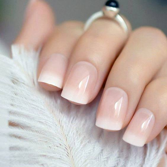 Cloudy Natural Nail Ideas For Women