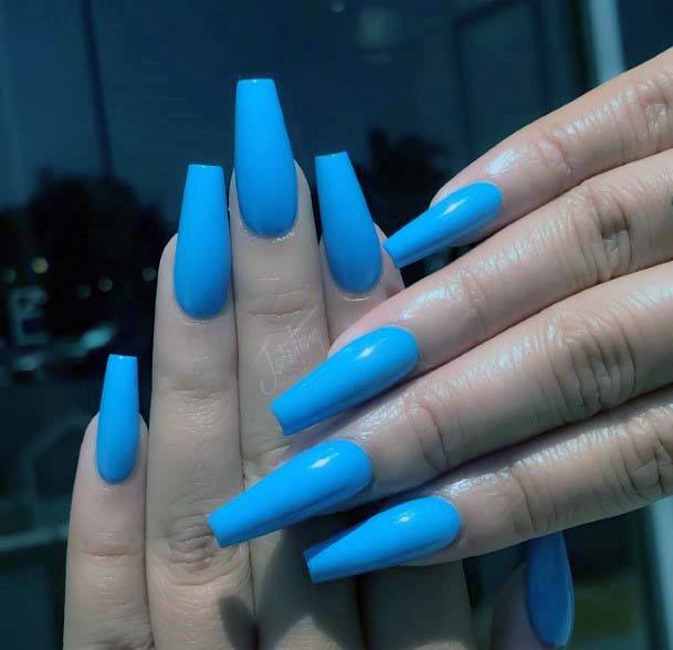 Coffin Nails Bright Blue For Women