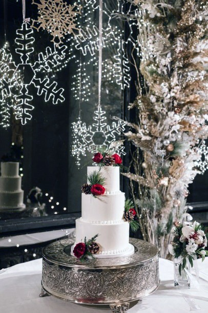 Cold Snow Christmas Wedding Flowers