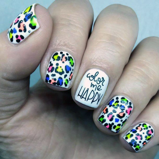 Colorful Animal Printed Nail Ideas For Women