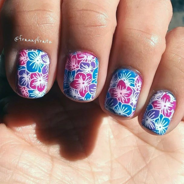 Colorful Florals Nail Ideas For Women