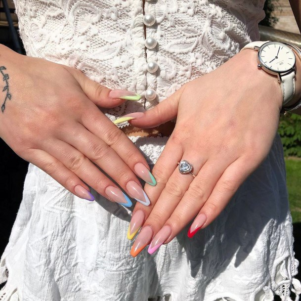 Colorful Tips Nail Ideas For Women