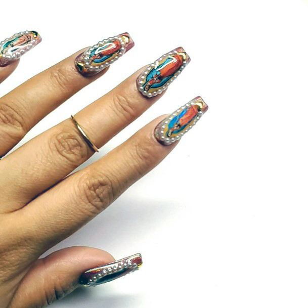 Colorful Tribal Nail Ideas For Women