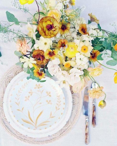 Contemporary Yellow Wedding Flowers