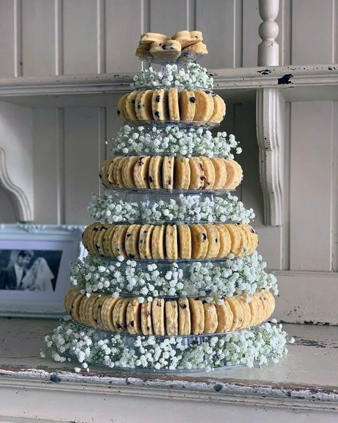 Cookies And Flowers Unique Wedding Cake
