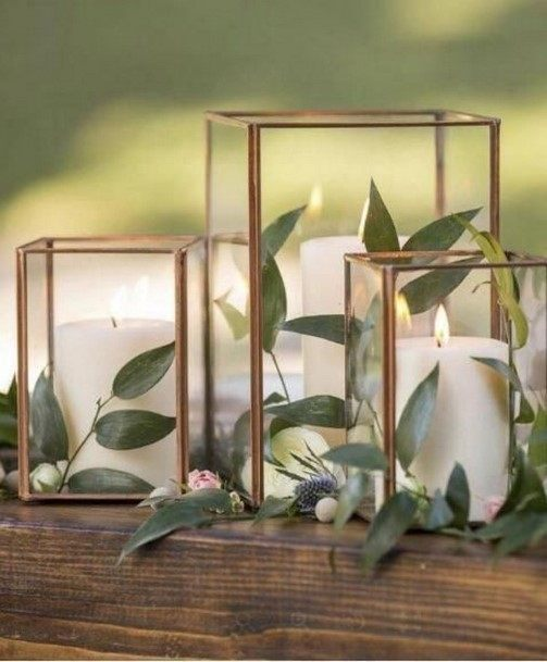 Copper Vase Wedding Centerpiece Ideas