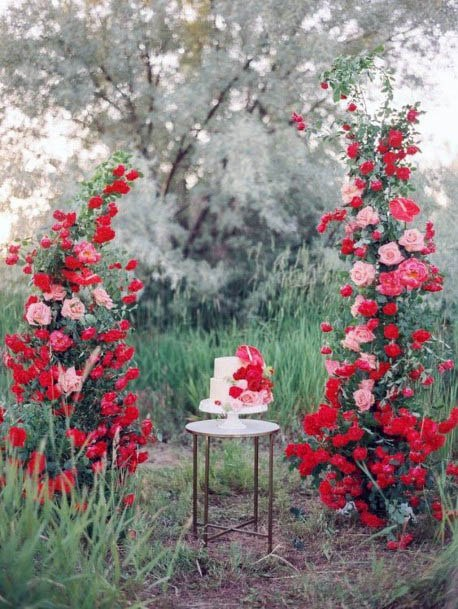 Coral Red Wedding Flowers