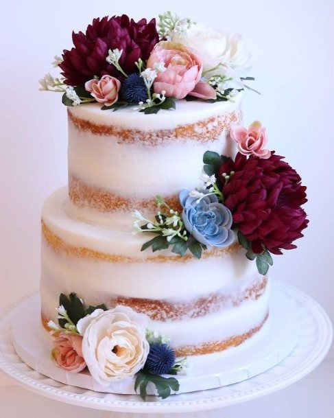 Country Wedding Cakes Floral Design