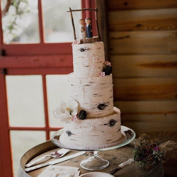 Couple Rustic Wedding Cake Toppers