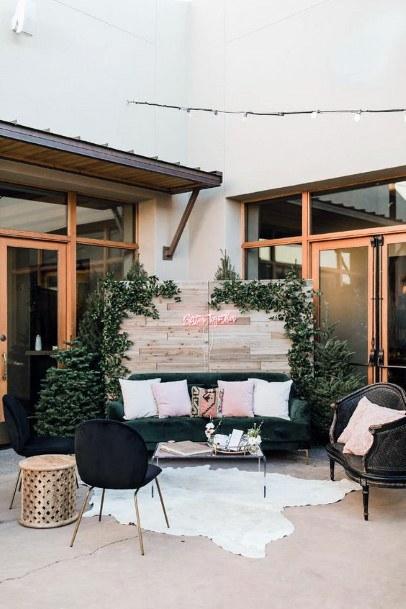 Cozy Sitting Area Backyard Wedding Ideas