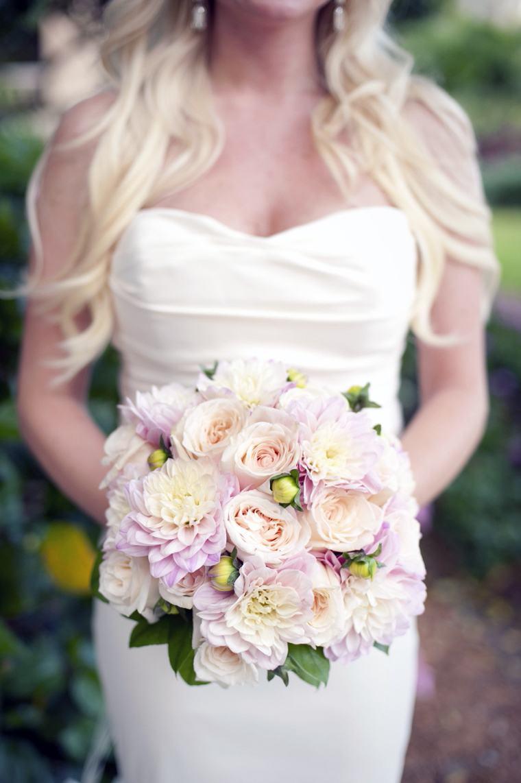 Cream Blush Roses Wedding Flowers