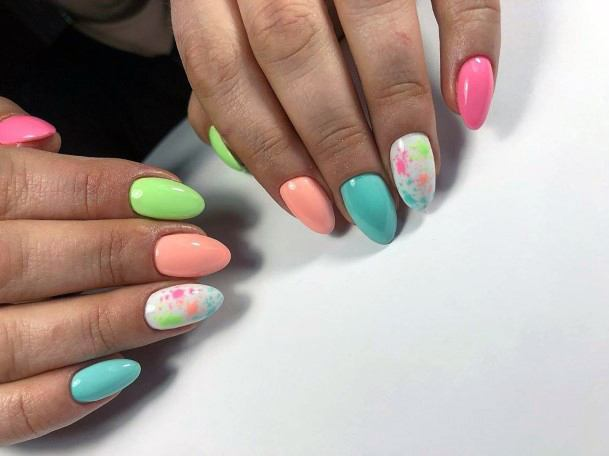 Creamy Colorful Nail Ideas For Women