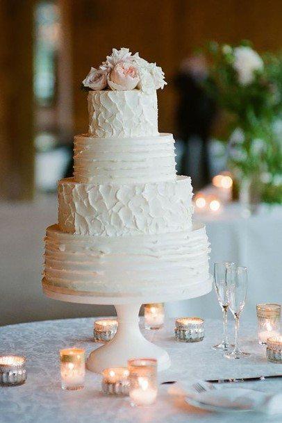 Creamy White Buttercream Wedding Cake