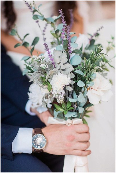 Creative Lavender Wedding Flower Bouquet