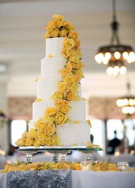 Creeping Yellow Flowers On Cake