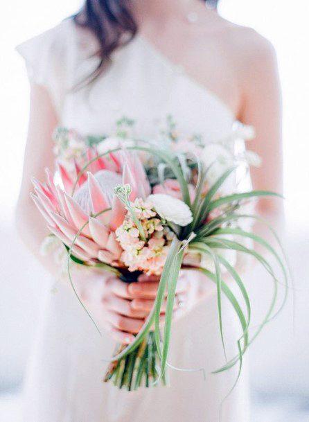 Crepe Blush Wedding Flowers