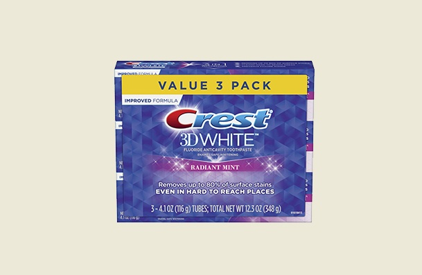 Crest 3d Radiant Mint Whitening Toothpaste For Women