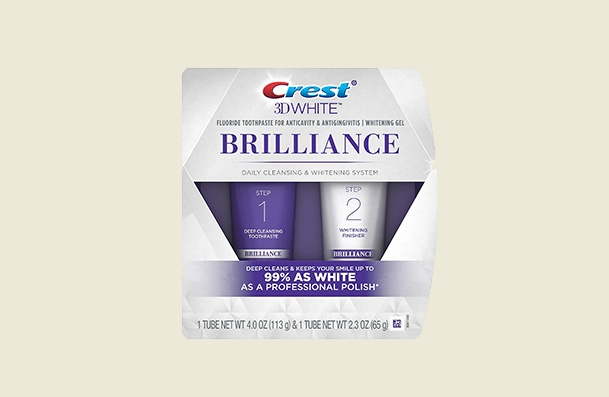 Crest 3d White Brilliance Two Step Whitening Toothpaste For Women