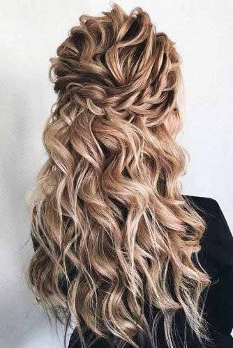 Crimped Ash Blonde Hair For Women