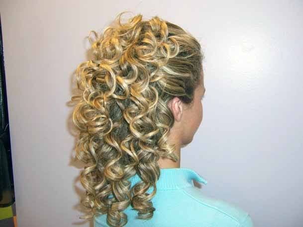 Crimped Golden Ringlets Hairstyle For Women