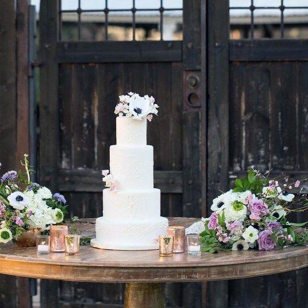Crisp White Elegant Wedding Cake Women