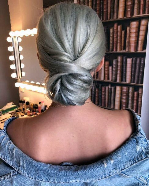 Cross Looped Chignon Hairstyle Women