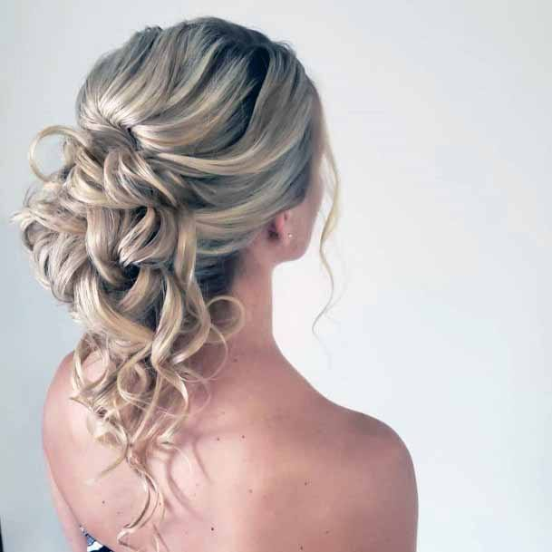 Crunchy Silver Curls Hairstyle Women