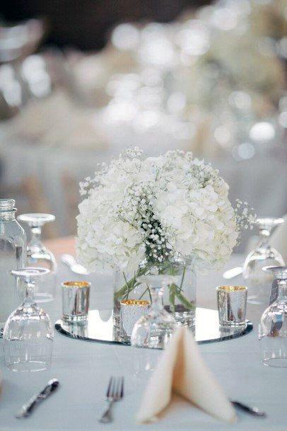 Crystal Decor Hydrangea White Wedding Flowers