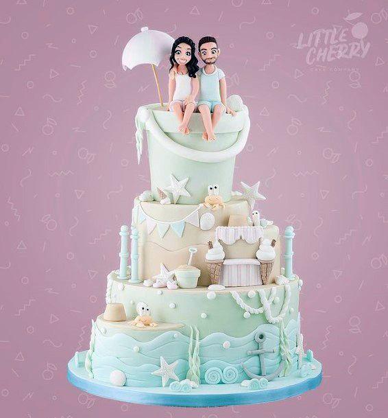 Cute Beach Wedding Dream Cake Women