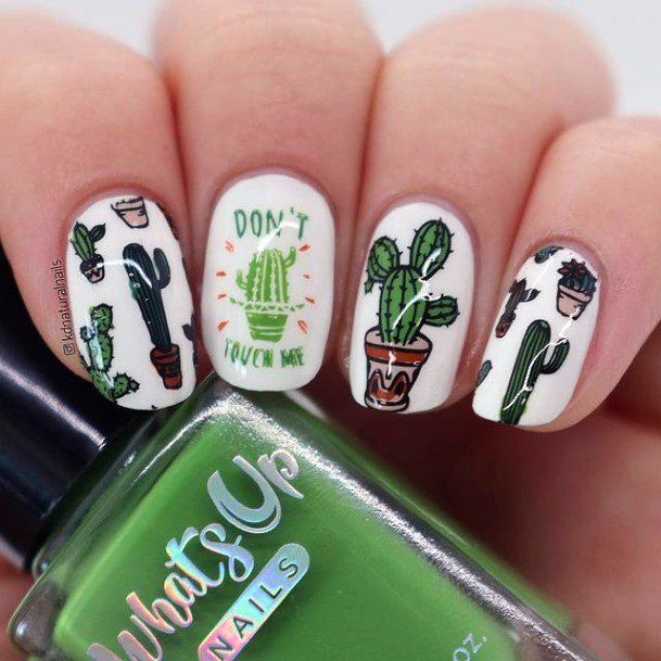 Cute Cactus Nails For Women