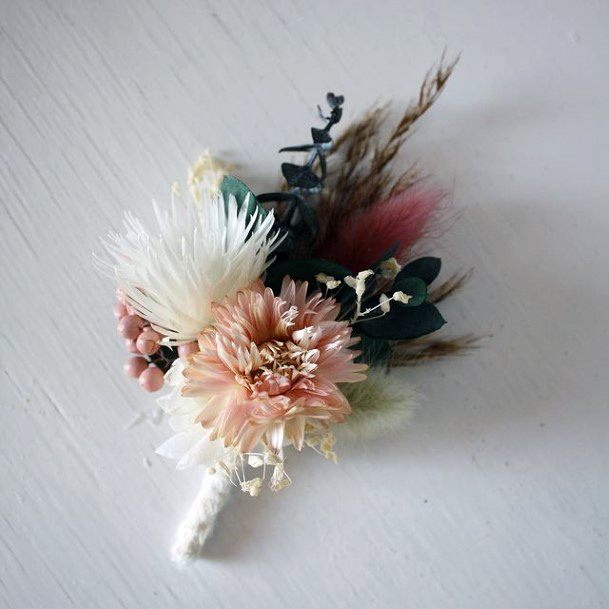 Cute Flowers Brooch Wedding Blush Colored