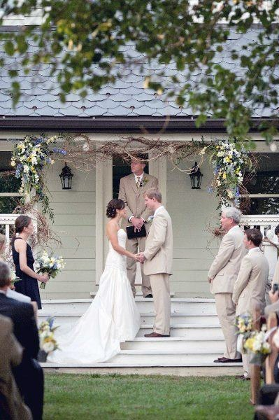 Cute Front Porch Ceremony Backyard Wedding Ideas