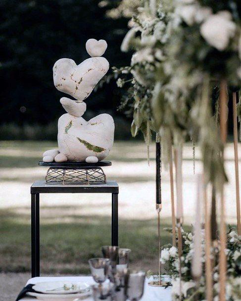 Cute Hearts Unique Wedding Cakes