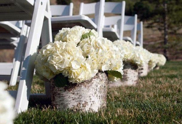Cute Hydrangea White Vase Wedding Decor