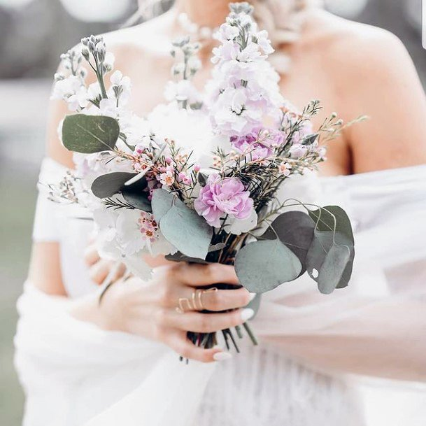 Cute Lavender Arrangement Wedding