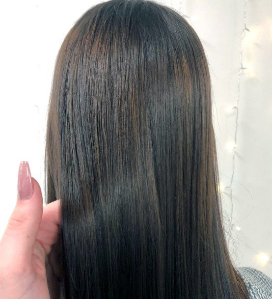 Cute Nice Straight Brown Hair Glossy Look For Womens Style